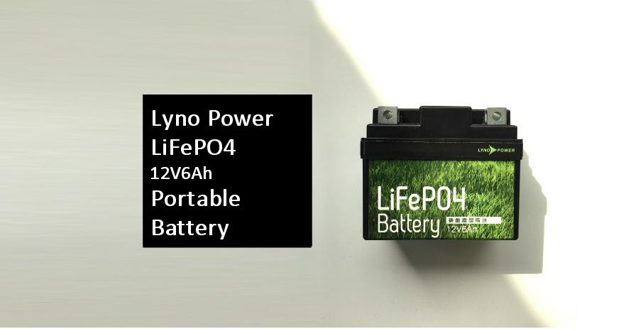 NEW! LiFePO4 12V6AH Portable Battery