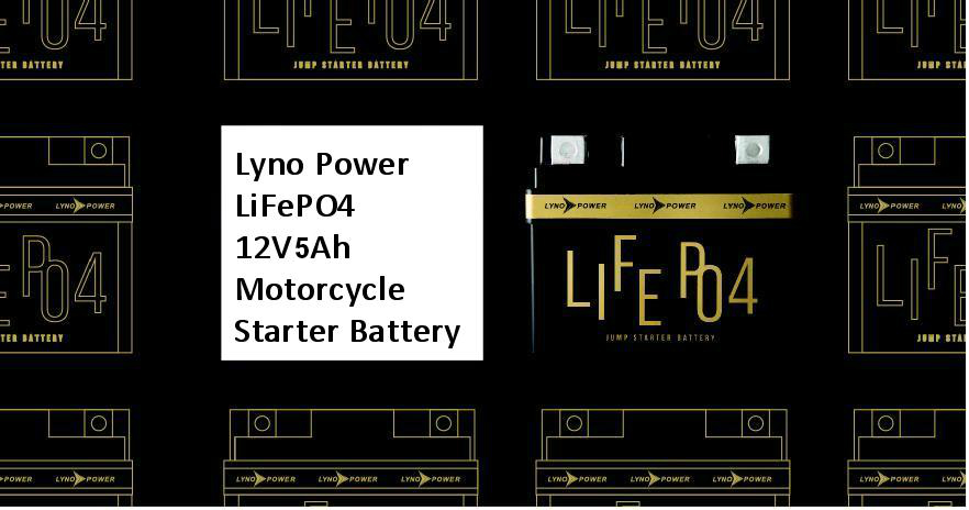 NEW! LiFePO4 12V5AH Motorcycle Starter battery